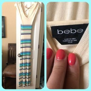 Xs Bebe maxi dress - striped 👗